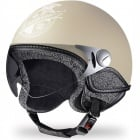Casque Jet Borsalino Tweed Panna mat