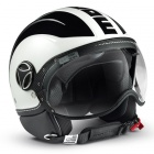 Casque Fashion Momo Design Avio Blanc Quartz Noir Metal