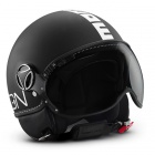 Casque Jet Momo Design Fighter II Noir Mat Blanc 4