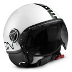 Casque Jet Momo Design Fighter II Blanc Brillant Noir 7