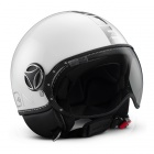 Casque Fashion Momo Design Fighter II Blanc Quartz Chrome 8