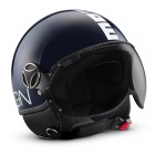 Casque Jet Momo Design Fighter II Bleu Marine Blanc 14