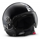 Casque Jet Momo Design Fighter II Noir Brillant Chrome 2