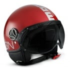 Casque Jet Momo Design Fighter II Rouge Cerise Argent 12