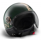 Casque Jet Momo Design Fighter II Vert Anglais Or 16