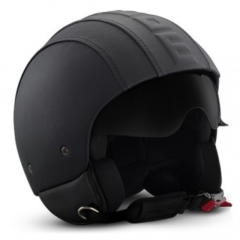 Casque Jet Momo Design Fighter II Hero Cuir Noir 31