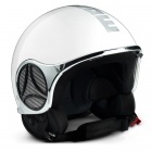 Casque Jet Momo Design Minimomo Blanc Chrome Metal