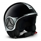 Casque Jet Momo Design Minimomo Noir Chrome Metal