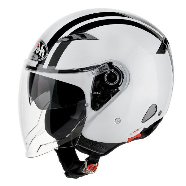 Casque Jet Airoh City One Flash Blanc