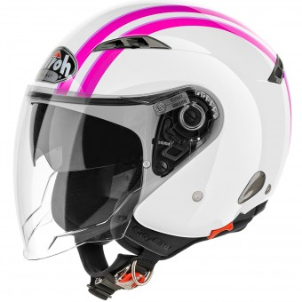 Casque Jet Airoh City One Style Pink