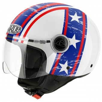 Casque Jet Airoh Compact Hazzard White