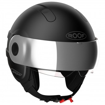 Casque Jet Roof Cooper Blacklight Noir Mat