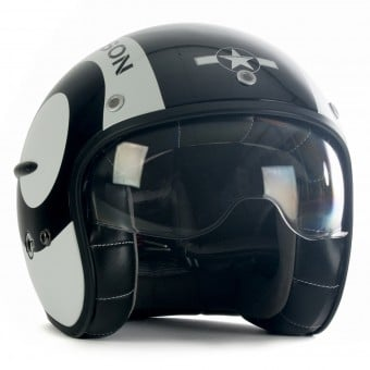 Casque Jet HARISSON Corsair Snooker Noir Blanc