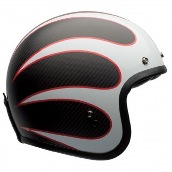 Casque Jet Bell Custom 500 Carbon Ace Cafe Ton Up