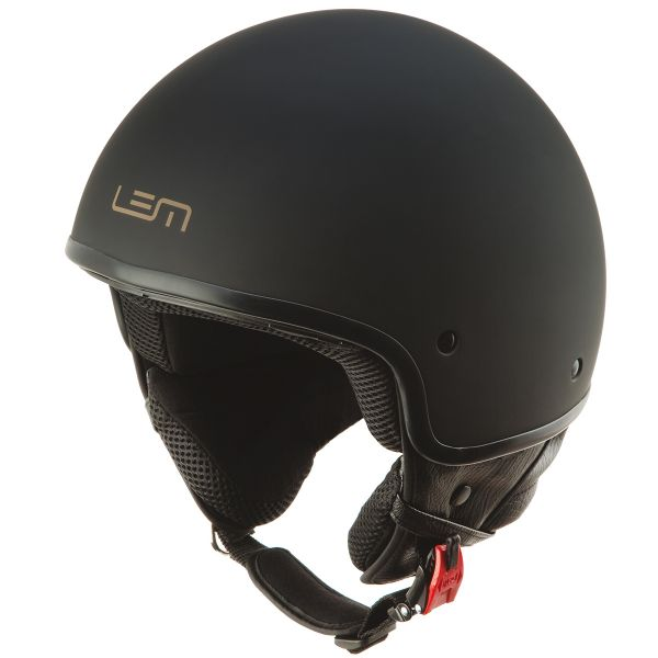 Casque Jet LEM Custom Black Powder