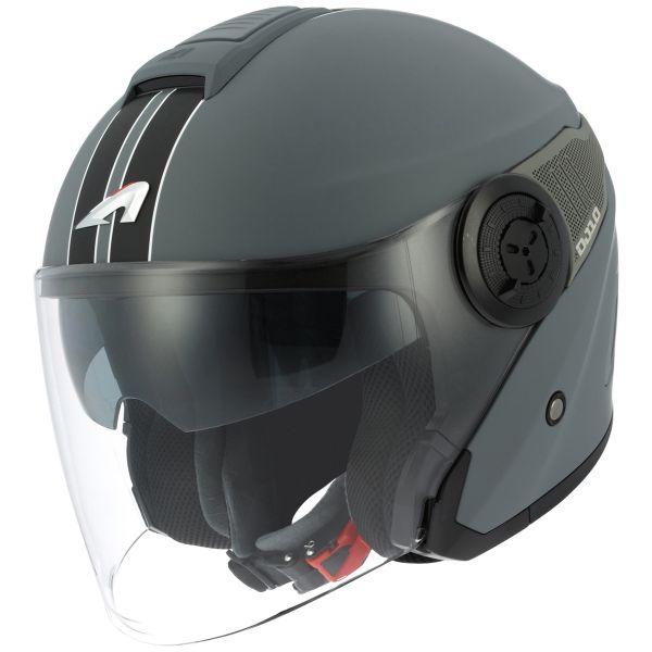 Casque Jet Astone DJ10 Lines Matt Dark Grey