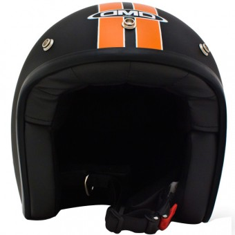 Casque Jet Dmd Vintage HD Noir Orange Mat