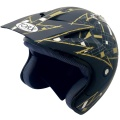 Casque moto Torx Doug Noir Or