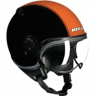 Casque Jet IOTA DP04 Run Noir Mat Orange