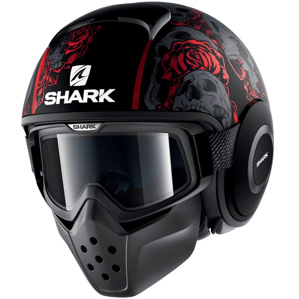 Casque Jet Shark Drak Sanctus Mat KRA