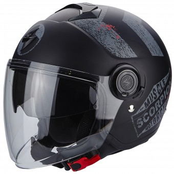 Casque Jet Scorpion Exo City Heritage Matt Black Silver