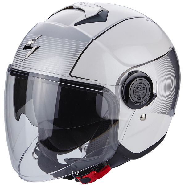 Casque Jet Scorpion Exo City Wind White Silver