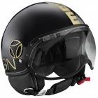 Casque Jet Momo Design FGTR Classic Noir Or