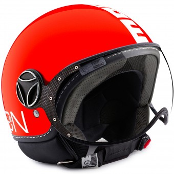 Casque Jet Momo Design FGTR Classic Orange