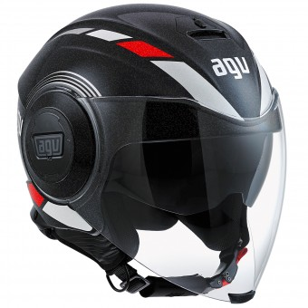 Casque Jet AGV Fluid Equalizer Black Grey