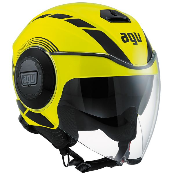 Casque Jet AGV Fluid Equalizer Yellow Fluo