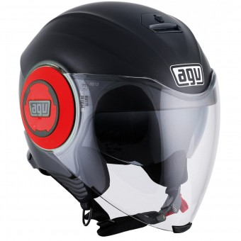 Casque Jet AGV Fluid Matt Black Red