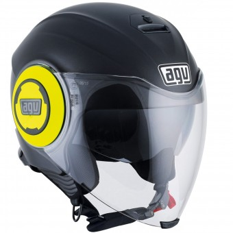 Casque Jet AGV Fluid Matt Black Yellow
