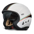 Casque moto Premier Free Evo Blanc Mat Noir IT08BM