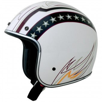 Casque Jet AFX FX-76 Vintage Line White Chrome