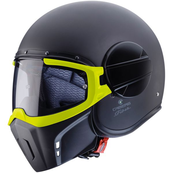 Casque Jet Caberg Ghost Fluo Matt Black