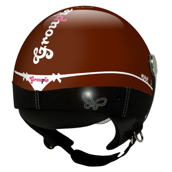 Casque Jet MAX Groupie Marron