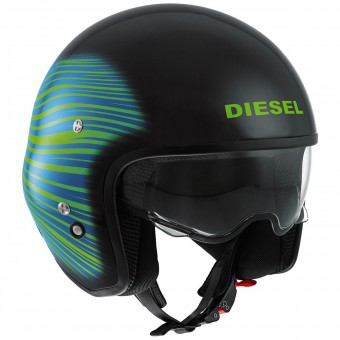 Casque Jet Diesel Hi-Jack HJ 1 Black Green Blue