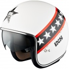 Casque Jet IXS HX 77 Start White Red