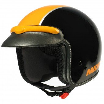 Casque Jet MAX JJ Peak Noir Orange