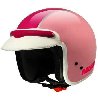 Casque Jet MAX JJ Peak Rose Fushia