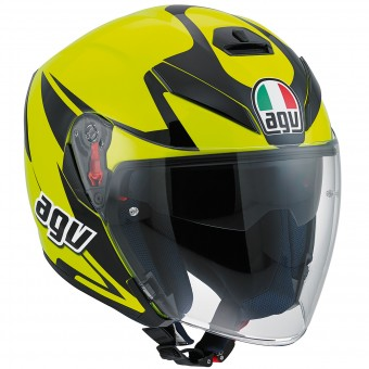 Casque Jet AGV K-5 Jet Threesixty Yellow Fluo Black