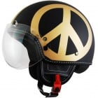 Casque Jet Moschino Peace and Love Or Mat