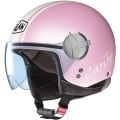 Casque moto Nolan N20 Traffic Caribe Plus Rose p