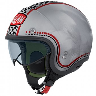 Casque Jet Nolan N21 Lario Scratched Chrome 4