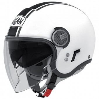 Casque Jet Nolan N21 Visor Duetto White Black 14