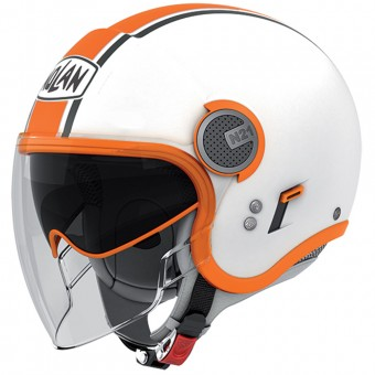 Casque Jet Nolan N21 Visor Duetto White Orange 9