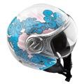 Casque moto NOX N227 Bleu Rose