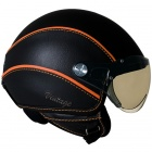 Casque Jet Nexx X60 Vision Vintage noir orange