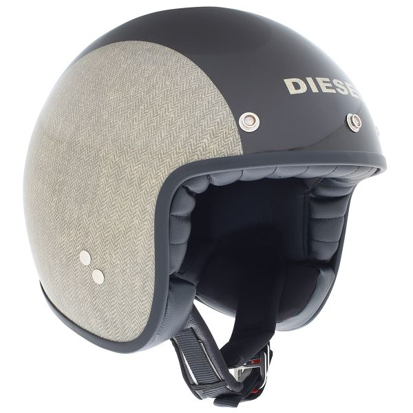 Casque Jet Diesel Old-Jack Herringbone Brown