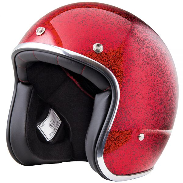 Casque Jet Stormer Pearl Glitter Red